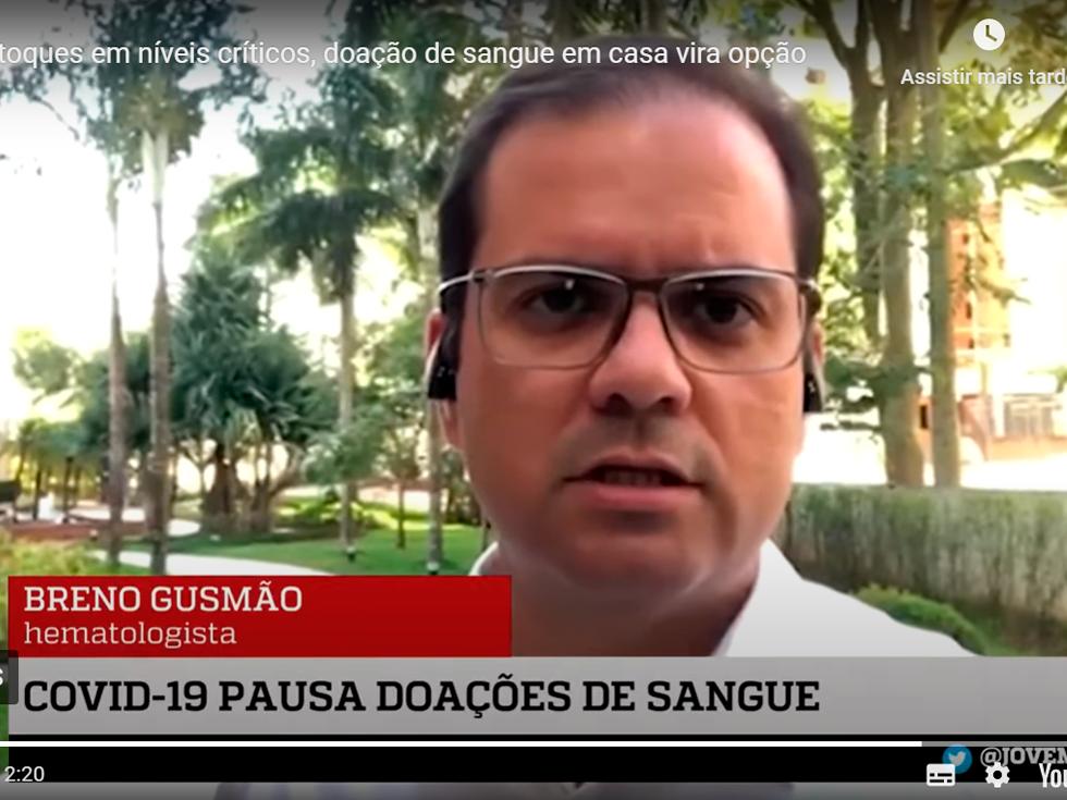 Dr. Breno Gusmão Na Jovem Pan – Doação De Sangue